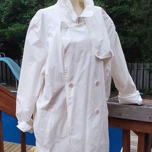 Ralph Lauren waist length white trenchcoat, Sz 2X